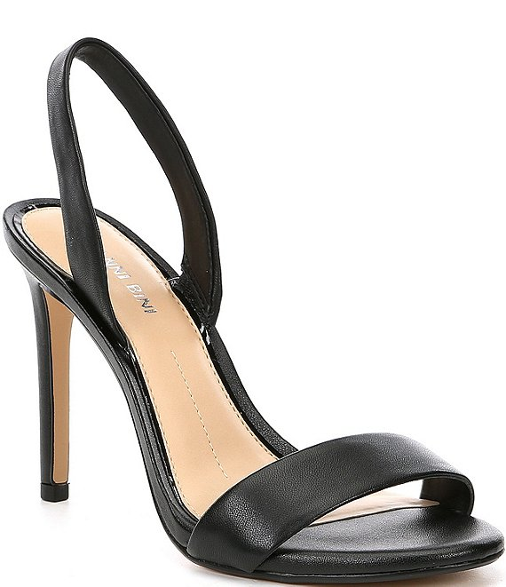 Color:Black - Image 1 - Devlyy Leather Halter Back Dress Sandals