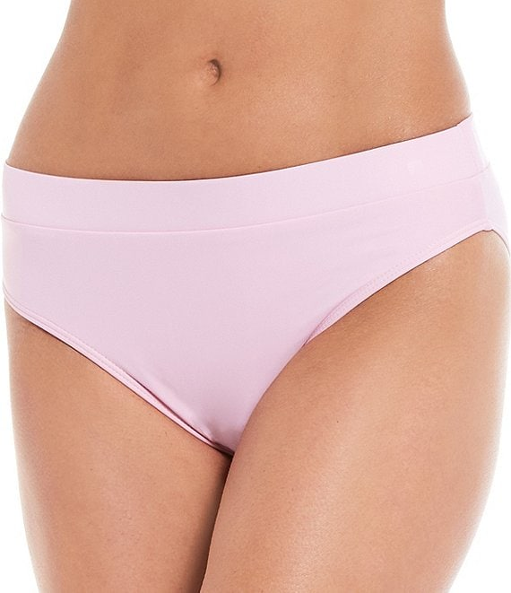 Color:Rosemary - Image 1 - Fan Favs Solid Banded Mid Waist Swim Bottom