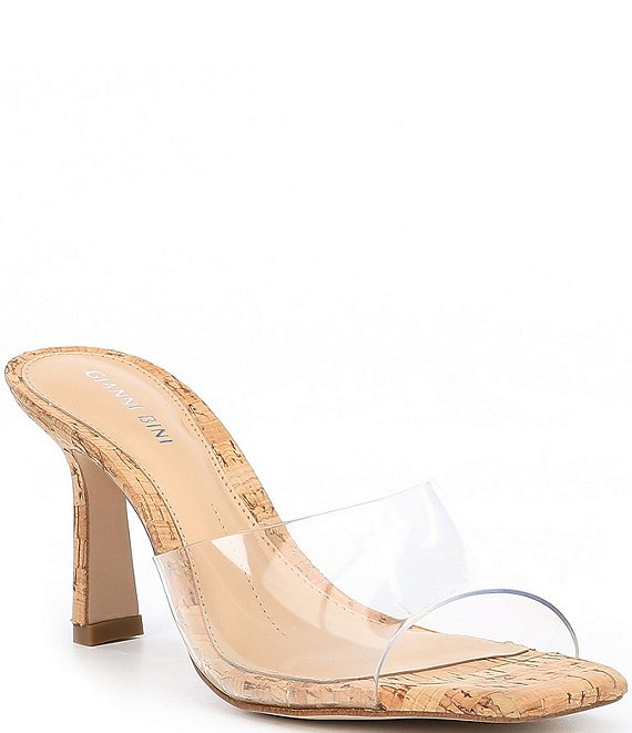Color:Clear - Image 1 - Lumyiee Clear Square Toe Dress Mules