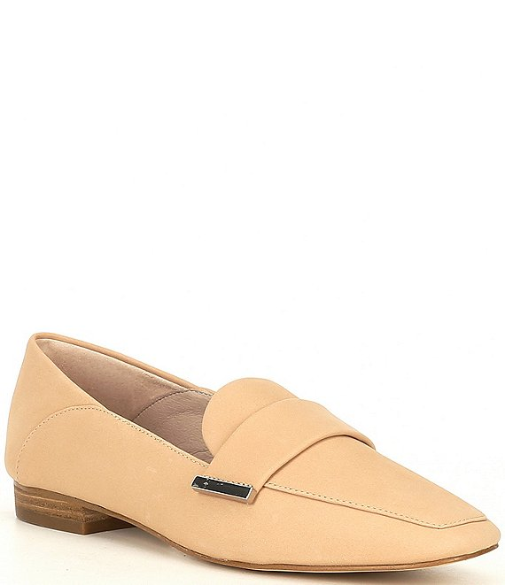 Color:Spanish Sand - Image 1 - Maivie Leather Flat Loafers