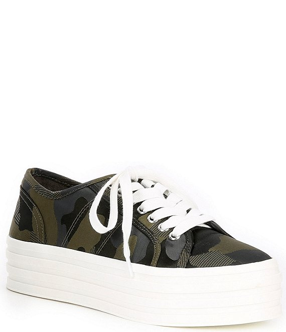 Color:Classic Olive - Image 1 - Marnah Camo Platform Sneakers
