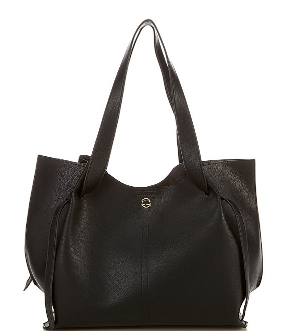 Color:Black - Image 1 - Winsley Snap Tote Bag