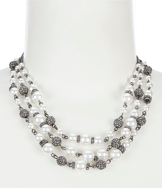 Givenchy 3 Row Collar Necklace