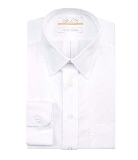 980040bd881 Gold Label Roundtree & Yorke Big & Tall Non-Iron Point-Collar Solid Dress  Shirt