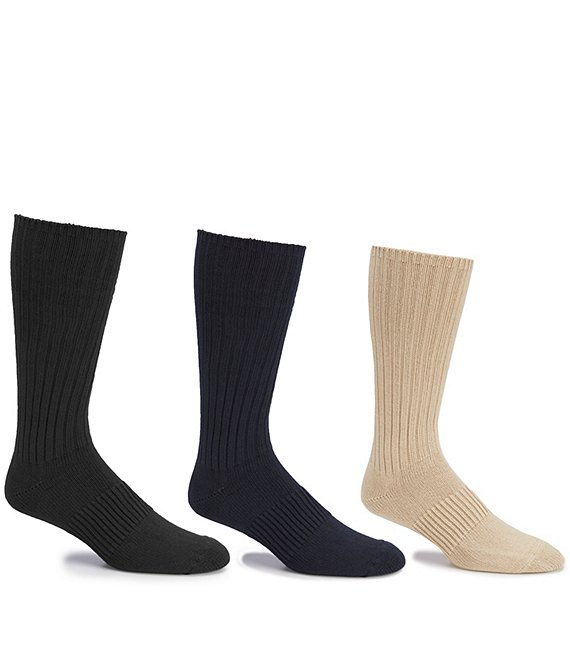 Color:Assorted - Image 1 - Gold Label Roundtree & Yorke Casual Crew Socks 3-Pack