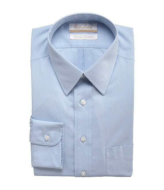82b45922d5 Roundtree   YorkeGold Label Roundtree   Yorke Non-Iron Full-Fit  Point-Collar Solid Dress Shirt