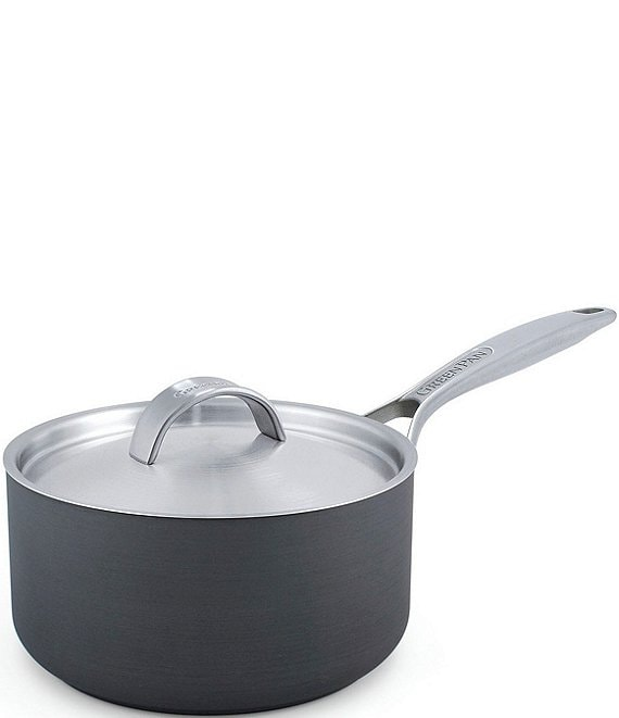 Color:Grey - Image 1 - Paris Pro Ceramic Non-Stick Covered Saucepan