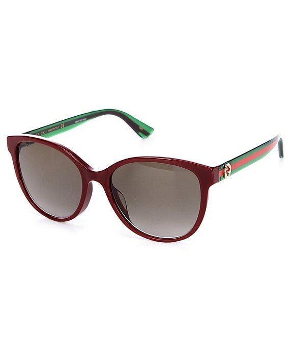 Color:Burgundy - Image 1 - Women's Oval Sunglasses