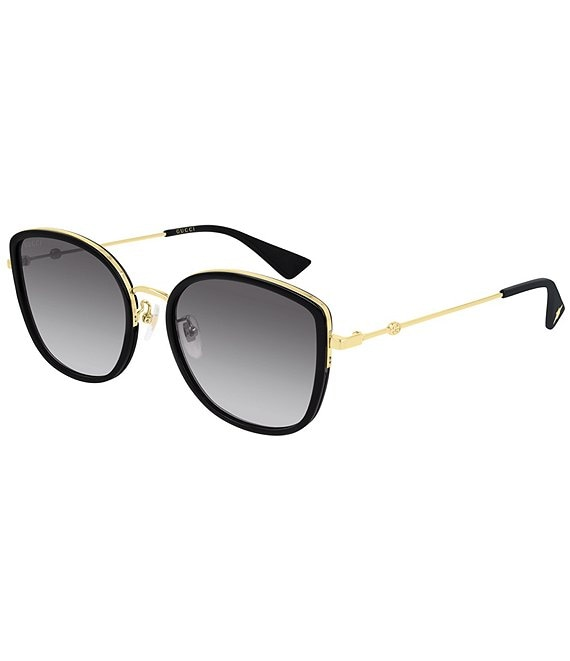 Color:Black - Image 1 - Rounded Sunglasses