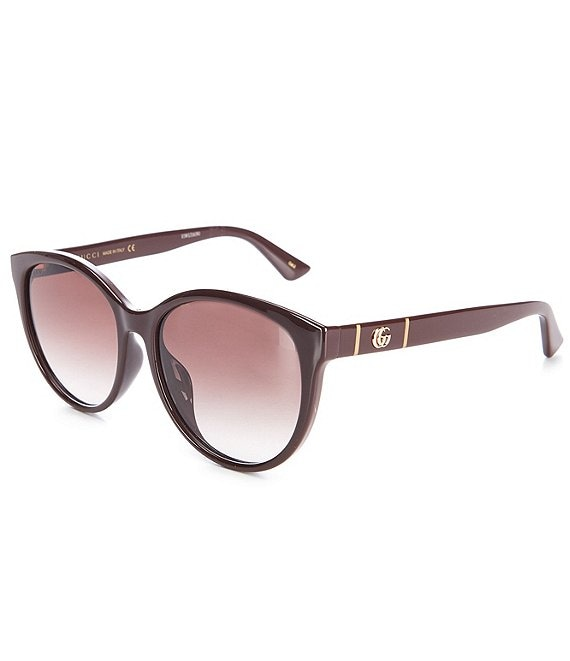 Color:Brown - Image 1 - Women's Cat Eye 56mm Sunglasses