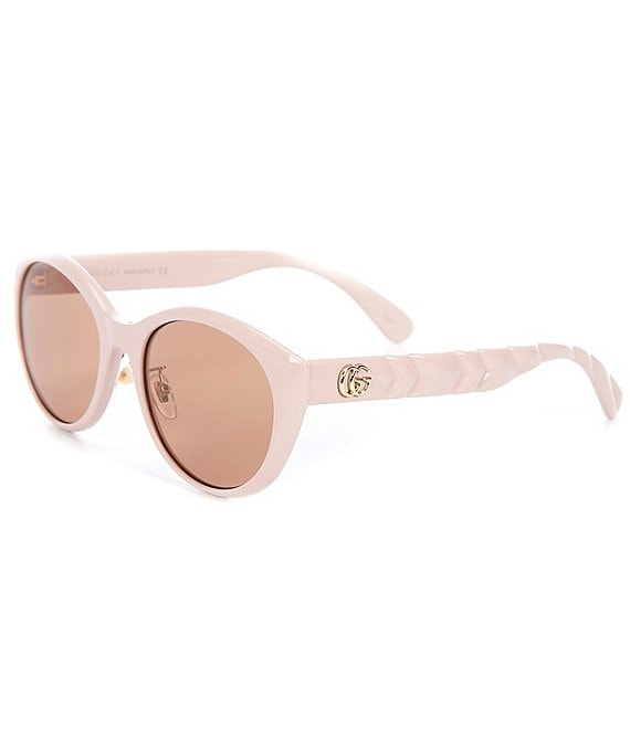 Color:Pink - Image 1 - Women's Cat Eye 56mm Sunglasses