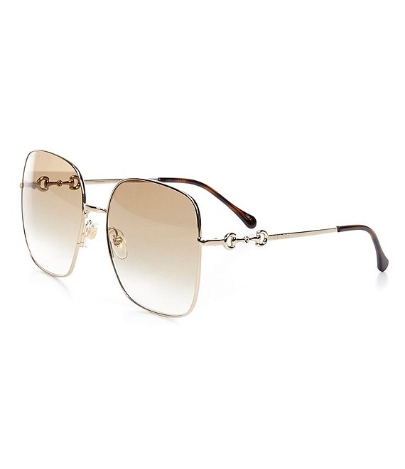 Color:Brown - Image 1 - Women's Gg0879s Square 61mm Sunglasses