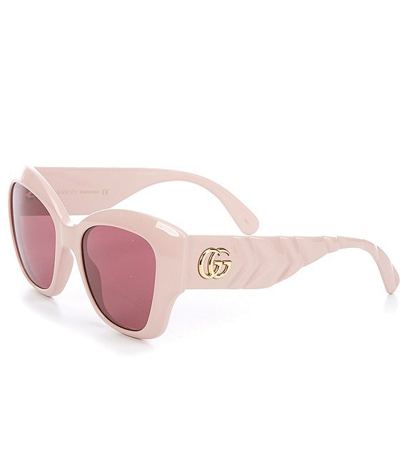 Color:Pink - Image 1 - Women's Over Sized Cat Eye 53mm Sunglasses