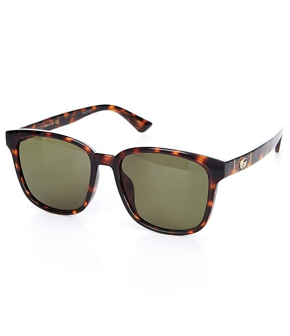 Color:Shiny Dark Havana - Image 1 - Women's Square 56mm Sunglasses