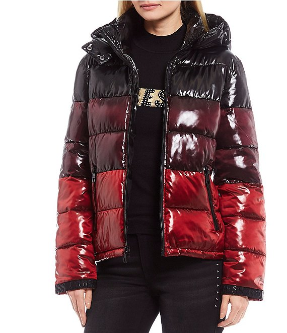 Guess Colorblock Ombre Puffer Coat