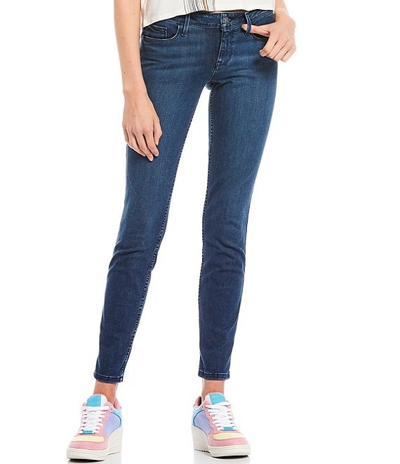 Color:Cuesta Wash - Image 1 - Eco Power Mid Rise Skinny Jeans