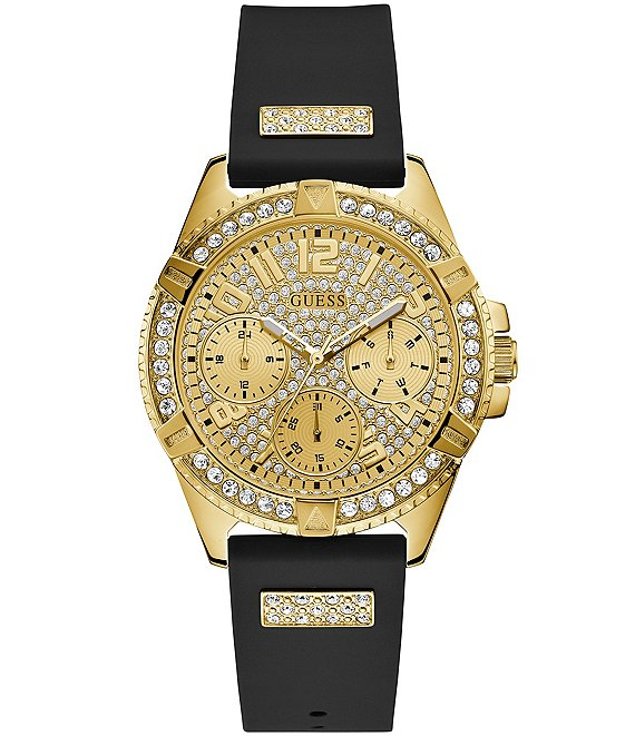 Color:Black - Image 1 - Gold Bling Watch