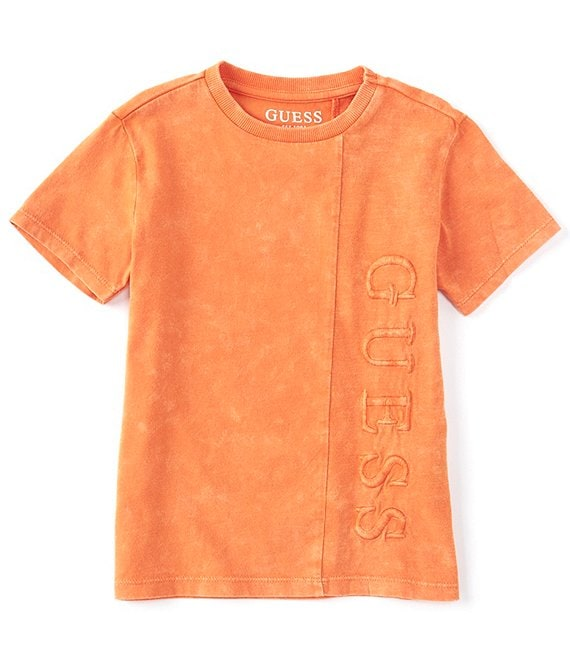 Guess Little Boys 2T-7 Short-Sleeve Vertical-Logo Tee