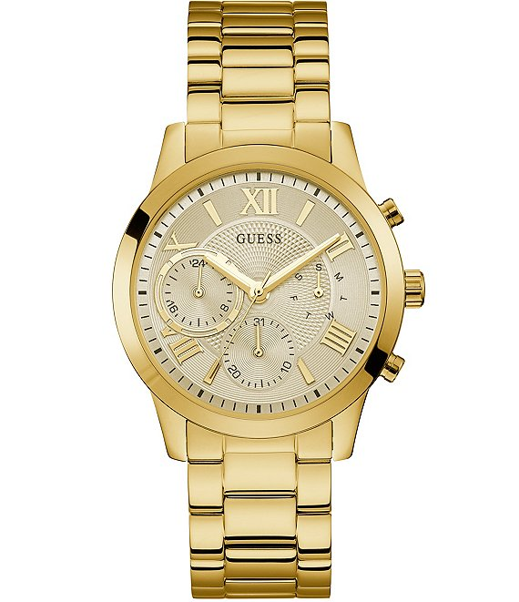 Color:Gold - Image 1 - Solar Multifunction Bracelet Watch