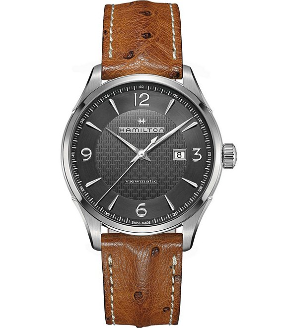 Hamilton Viewmatic Leather-Strap Watch