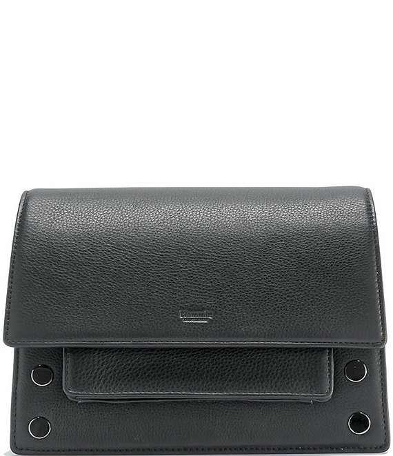 Color:Black/Gunmetal - Image 1 - AJ Small Flap Crossbody Bag