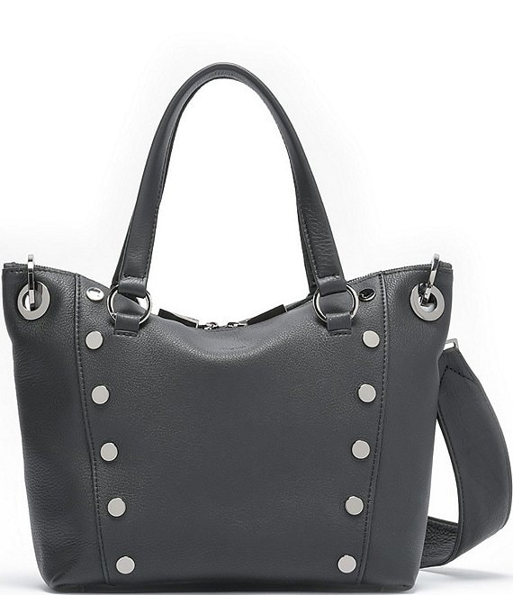 Color:Black/Gunmetal - Image 1 - Daniel Studded Medium Satchel Bag