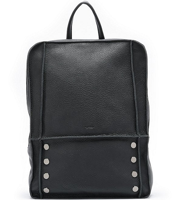 Color:Black/Gunmetal - Image 1 - Hunter Classic Leather Zip Backpack