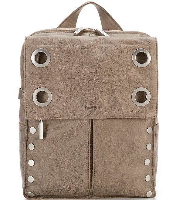 Color:Pewter/Brushed Silver - Image 1 - Montana Large Grommet Backpack