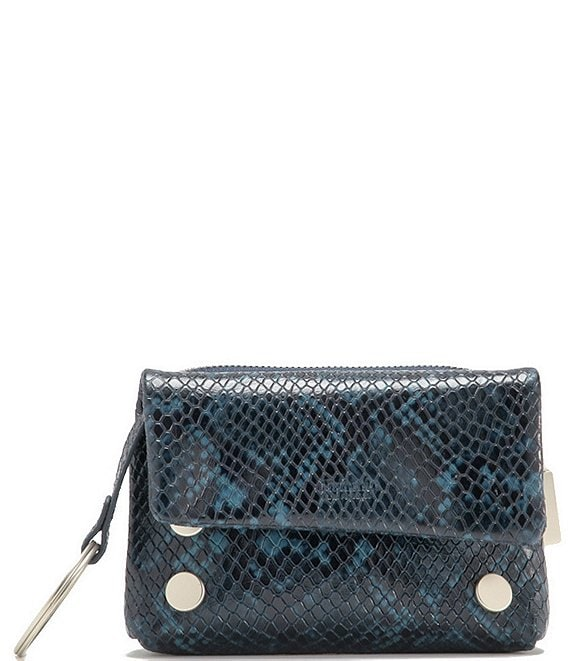 Color:French Navy Snake - Image 1 - VIP Mini Snake Print Convertible Clutch Bag