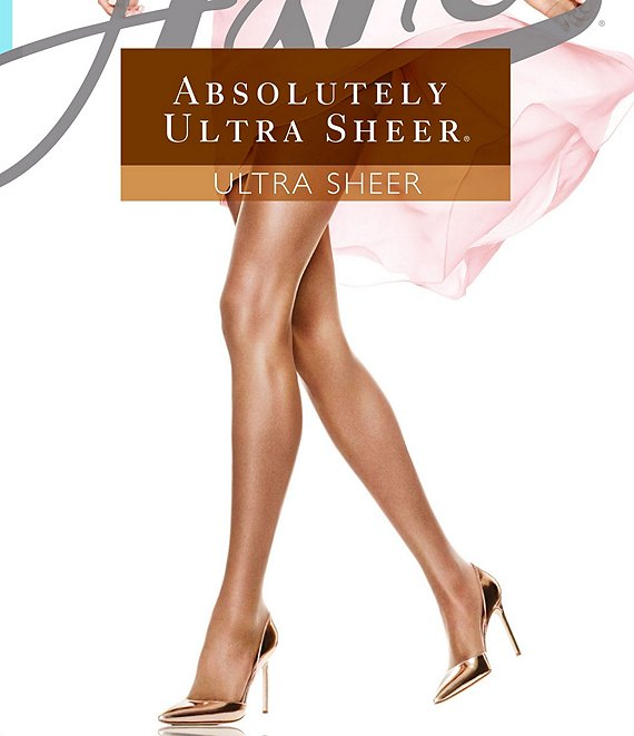 Color:Barely Black - Image 1 - Absolutely Ultra Sheer Control Top Sandalfoot Pantyhose