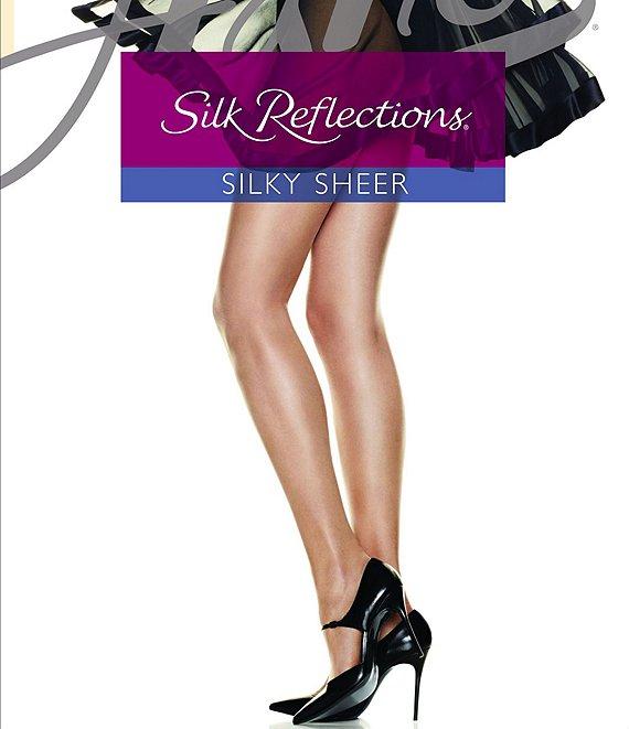 1f7775491d6bd Hanes Silk Reflections Control Top Reinforced-Toe Hosiery | Dillard's