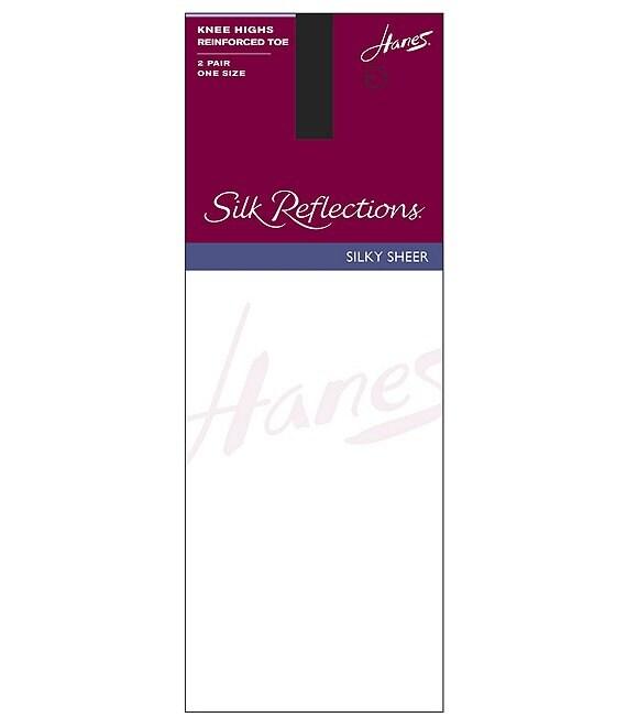 3b539e0cf47 Hanes Silk Reflections Reinforced-Toe Knee Highs 2-Pack
