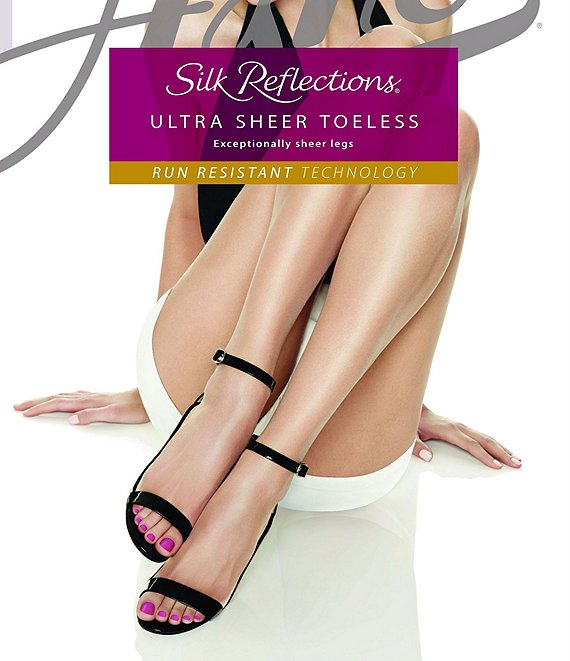 b785a6e04a6 Hanes Silk Reflections Ultra Sheer Toeless Control Top Pantyhose ...