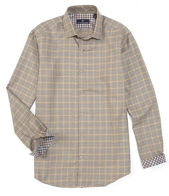 Hart Schaffner Marx Long-Sleeve Houndstooth Check Sportshirt