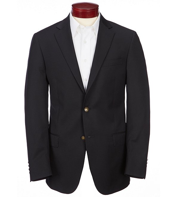 Color:Black - Image 1 - Modern Fit Solid Wool Sportcoat