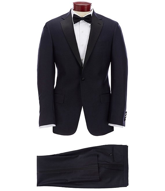 Color:Navy - Image 1 - New York Modern-Fit Tuxedo