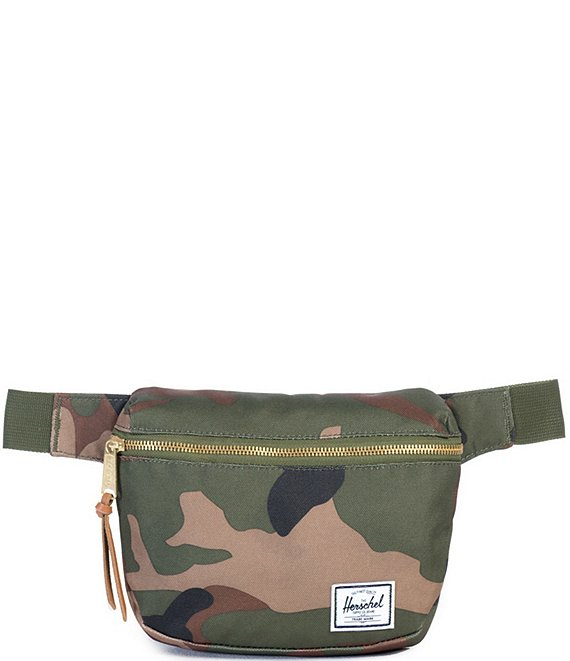 Color:Woodland Camo - Image 1 - Fifteen Camouflage Zip Around Belt Bag