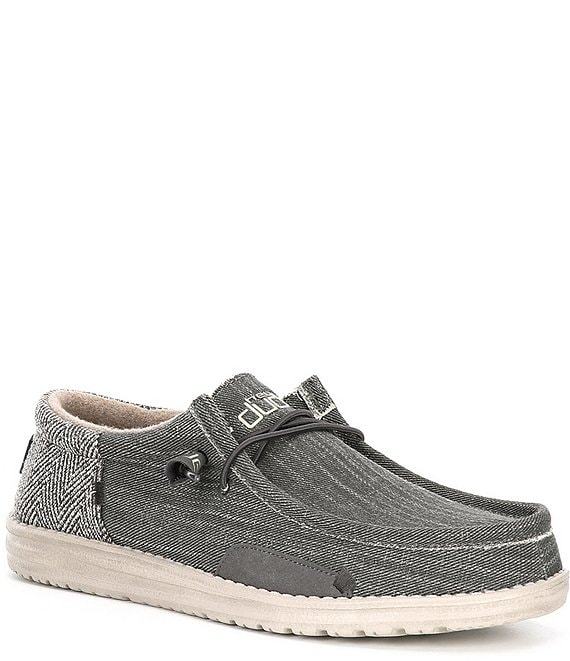 Color:Bruno - Image 1 - Men's Wally Funk Herringbone Slip Ons