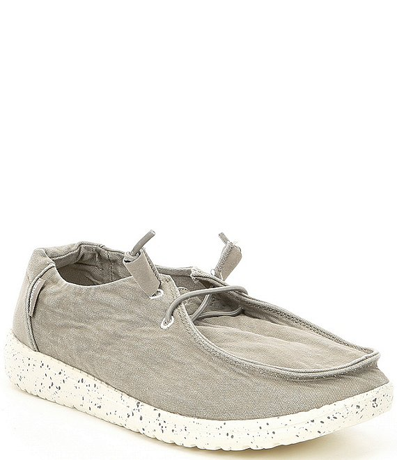 Color:Grey - Image 1 - Women's Wendy Canvas Slip Ons
