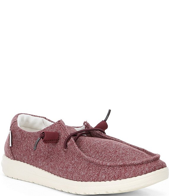 Color:Burgundy - Image 1 - Women's Wendy Stretch Washable Canvas Slip-Ons