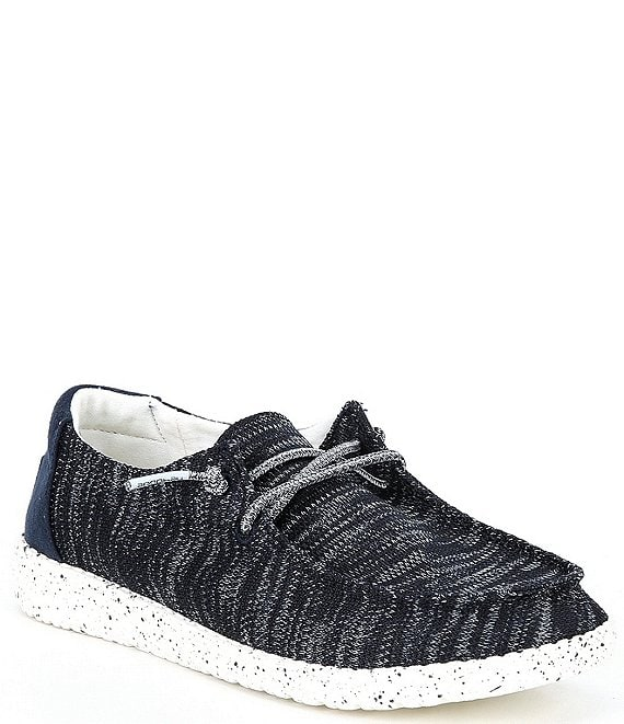 Color:Navy - Image 1 - Women's Wendy Sox Washable Slip-Ons
