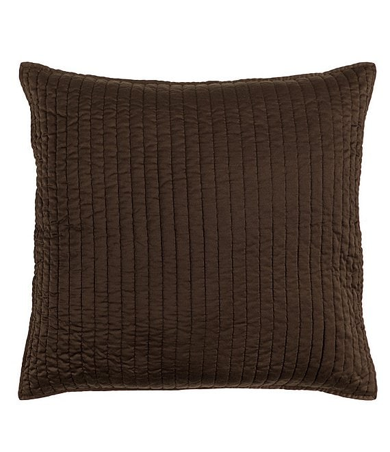 Color:Chocolate - Image 1 - Channel Stitched Satin Euro Sham