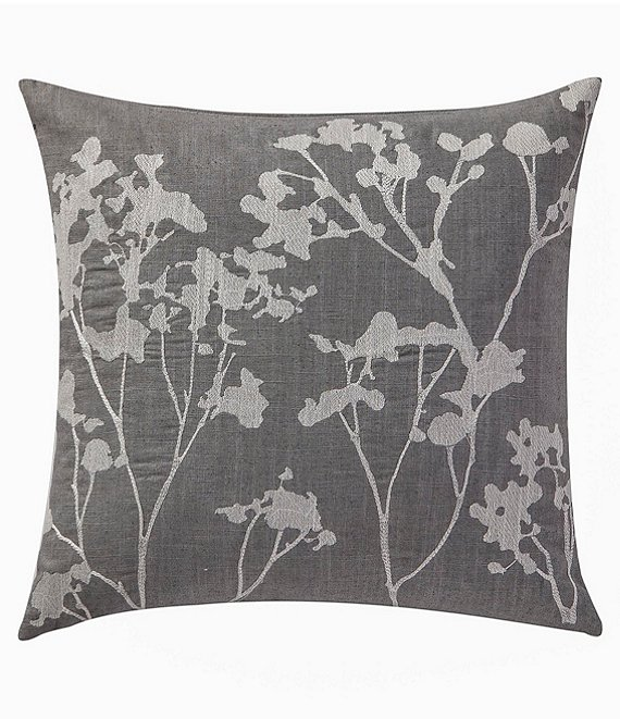 Highline Bedding Co. Adelais Floral-Embroidered Square Pillow