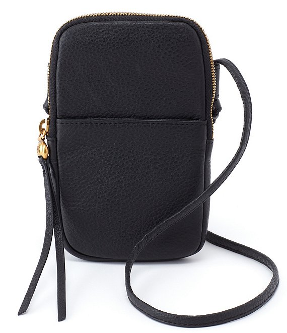 Color:Black - Image 1 - Fate Phone Leather Crossbody Bag