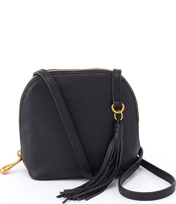 Color:Black - Image 1 - Nash Leather Top Zip Crossbody Bag