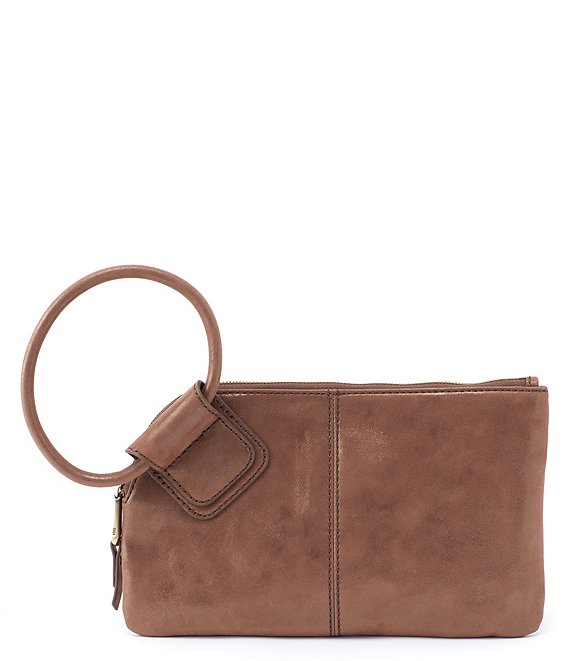 Color:Brass - Image 1 - Sable Ring-Handle Wristlet