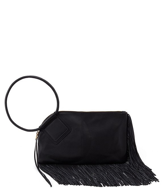 Color:Black - Image 1 - Stevie Fringe Large Shoulder Bag