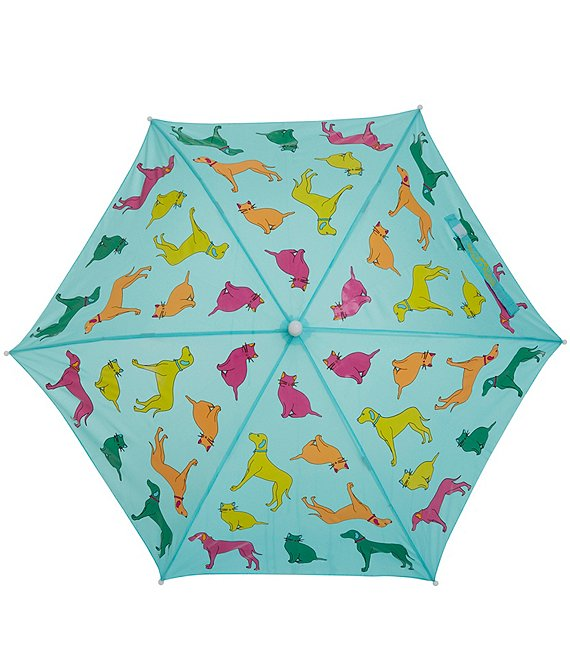 Color:Blue - Image 1 - Holly and Beau Animal Print Kids Umbrella