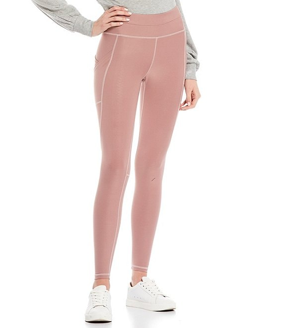 Color:Blush - Image 1 - Mesh Tulip Pocket Performance Leggings