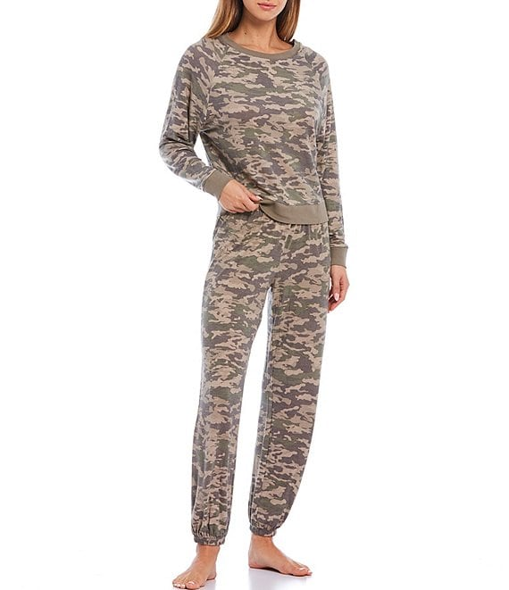 Color:Camo - Image 1 - Star Seeker Brushed Jersey Camo Lounge Set